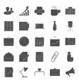 Office and marketing silhouettes icons set vector image vector image