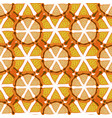 orange background bright seamless pattern hand vector image vector image