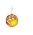orange christmas ball vector image vector image