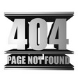 page not found 404 vector image