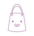 paper gift bag kawaii character vector image vector image