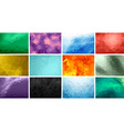 Polygonal Background Set vector image vector image