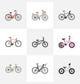 realistic equilibrium competition bicycle vector image
