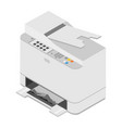 realistic isometric printer vector image vector image