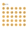 Round Bank Icons vector image