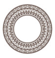 round frame and decorative vintage design element vector image