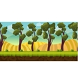 Seamless background trees and hills vector image vector image