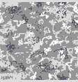 seamless gray camouflage of pixel pattern vector image vector image