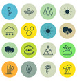 set of 16 harmony icons includes cold climate vector image vector image