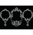 Set of Baroque Vintage Decoration Frames vector image