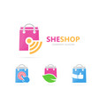 shop and wifi logo combination sale and vector image vector image