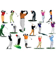 Sixteen golfers vector | Price: 1 Credit (USD $1)