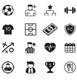 Soccer football club icons set vector image