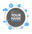 social network programmer avatar place for your vector image