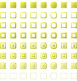 Square polygon set vector image vector image