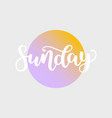 sunday handwriting font by calligraphy vector image vector image