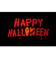 text Halloween Banner vector image
