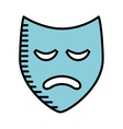 theater mask isolated icon design vector image vector image