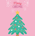 tree star balls garland decoration merry christmas vector image vector image