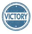 victory grunge rubber stamp vector image vector image
