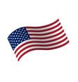 waving flag united states vector image