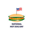 world day hot dog flag of the united states vector image