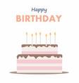 happy birthday cake card birthday party elements vector image