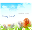 happy easter card 10 v vector image