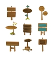 Cartoon Wood Signs and Banners vector image