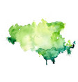 abstract green watercolor stain texture vector image