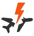 Aircraft Disaster Icon vector image