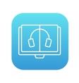 Audiobook line icon vector image