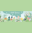 banner with cute people vector image