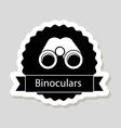 binoculars design vector image vector image