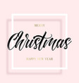 black lettering christmas in square frame vector image vector image