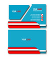 blue elegant business card vector image vector image