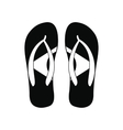Brazilian flip flops icon simple style vector image vector image