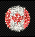 canada flag sparkling badge vector image