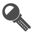 car key solid icon unlock vector image