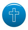 catholic cross icon blue vector image
