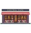 Central cafe building vector image