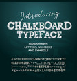Chalkboard typeface letters and numbers