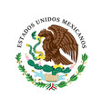 colored coat of arms of mexico vector image