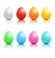 colorful realistic easter eggs set vector image