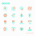 creative thin line icons set vector image vector image