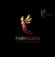 Fairy queen logo vector image