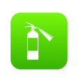 fire extinguisher icon digital green vector image vector image