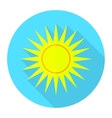 flat sun icon 1 vector image