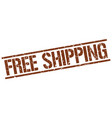 free shipping stamp vector image vector image