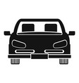 front car icon simple style vector image